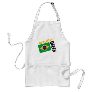 Brazilian Queen & Flag Adult Apron