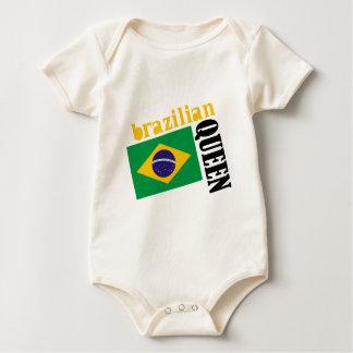 Brazilian Queen & Flag Baby Bodysuit