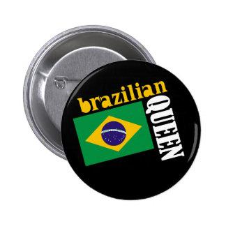 Brazilian Queen & Flag Button