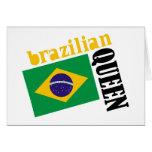 Brazilian Queen & Flag Cards