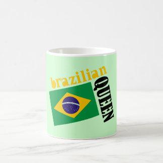Brazilian Queen & Flag Classic White Coffee Mug