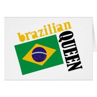 Brazilian Queen & Flag Greeting Card
