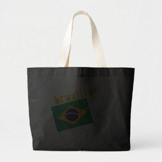 Brazilian Queen & Flag Large Tote Bag