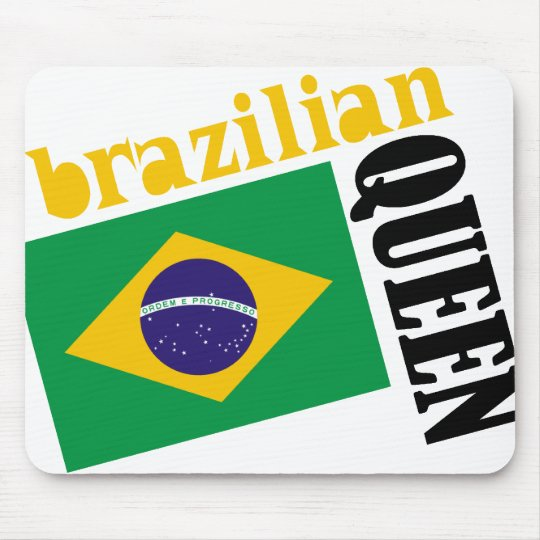 Brazilian Queen & Flag Mouse Pad