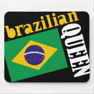 Brazilian Queen & Flag Mouse Pads