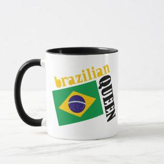 Brazilian Queen & Flag Mug