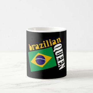 Brazilian Queen Flag Coffee Mugs