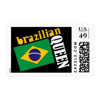 Brazilian Queen & Flag Postage