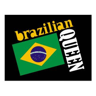 Brazilian Queen & Flag Postcard