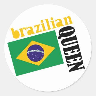 Brazilian Queen Flag Stickers