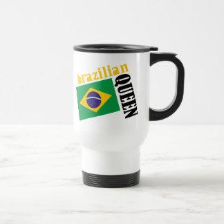Brazilian Queen & Flag Travel Mug