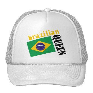 Brazilian Queen & Flag Trucker Hat
