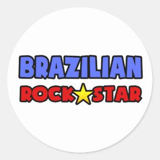 Brazilian Rock Star Classic Round Sticker