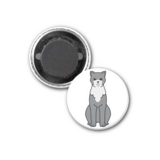 Brazilian Shorthair Cat Cartoon Magnet