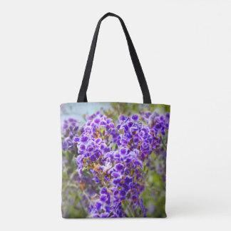 Brazilian Sky Flower Tote Bag