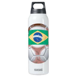 Brazilian Soccer Ball Insulated Water Bottle