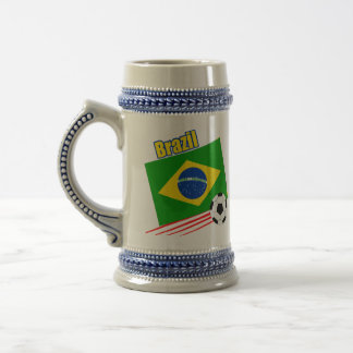Brazilian Soccer Team Beer Stein