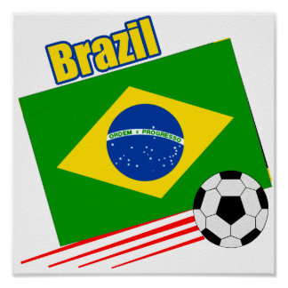 Brazilian Soccer Team Poster