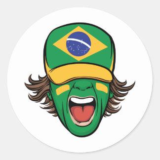Brazilian Sports Fan Classic Round Sticker