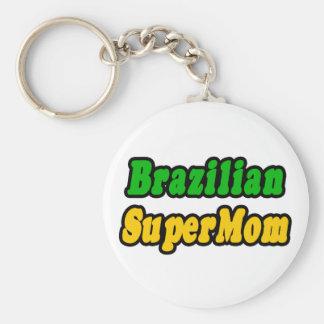 Brazilian SuperMom Keychain