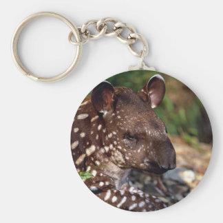 Brazilian tapir, young calf keychain