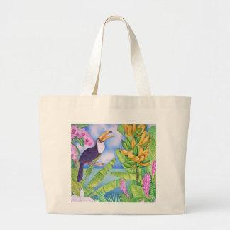 Brazilian Toucan in the Amazon Large Tote Bag