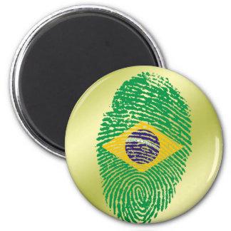 Brazilian touch fingerprint flag 2 inch round magnet
