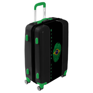 Brazilian touch fingerprint flag luggage