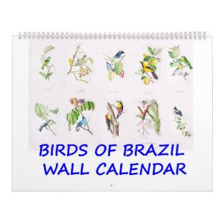 Brazilian Tropical Birds Calendar
