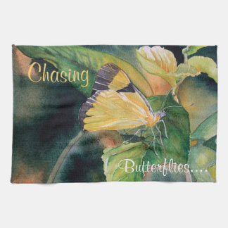 Brazilian Yellow Butterfly Kitchen Towel