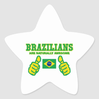 Brazilians are naturally awesome star sticker