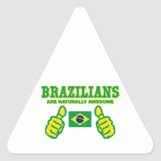 Brazilians are naturally awesome triangle sticker
