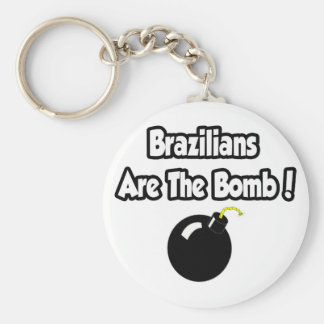 Brazilians Are The Bomb! Keychains