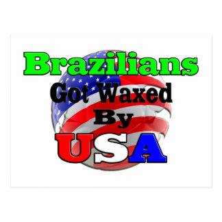 Brazilians Got Waxed By USA Postcard