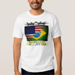 Brazillian Jiu Jitsu señala la camiseta por medio Playeras