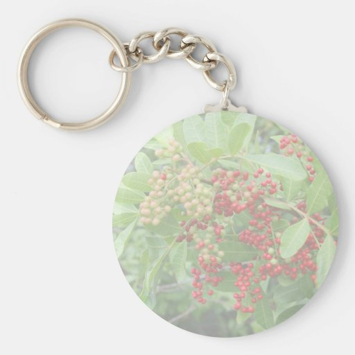 Brazillian Pepper Washed Out Pictuure Basic Round Button Keychain