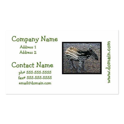 Brazillian Tapir Business Cards