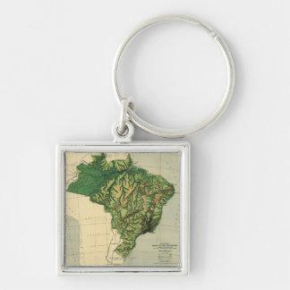 BrazilPhysical Panoramic MapBrazil Key Chain