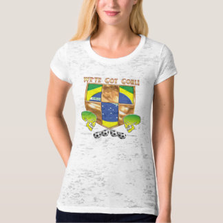 Brazil's Got Goal Ladies Burnout T-Shirt