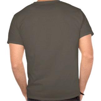 Brazo de la muestra de la roca tee shirts