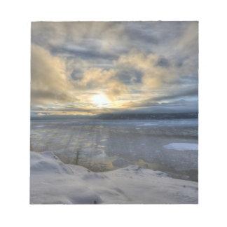 Brazo de Turnagain del solsticio de invierno Libretas Para Notas