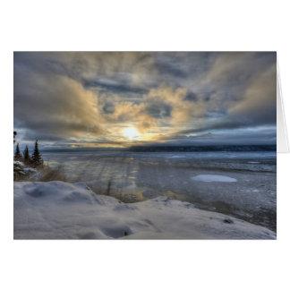 Brazo de Turnagain del solsticio de invierno Tarjeta Pequeña