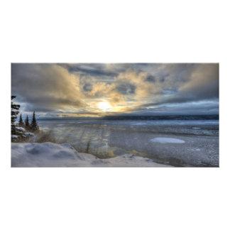 Brazo de Turnagain del solsticio de invierno Tarjetas Con Fotos Personalizadas