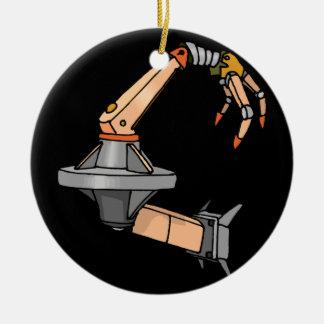 Brazo del robot adorno navideño redondo de cerámica