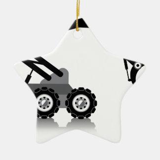 Brazo robótico adorno navideño de cerámica en forma de estrella