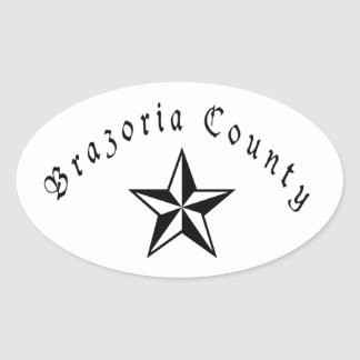 Brazoria County Oval Sticker