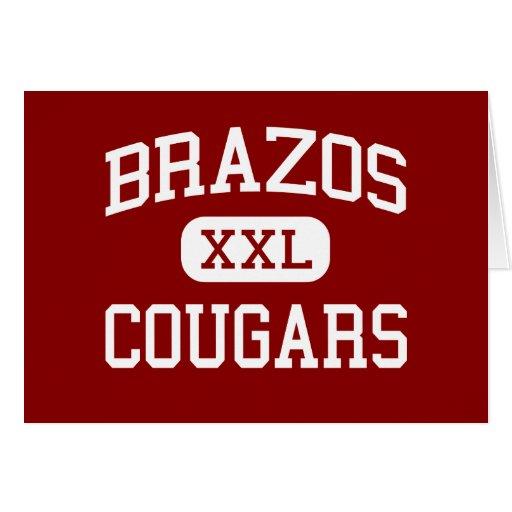 Brazos - Cougars - High School - Wallis Texas Cards
