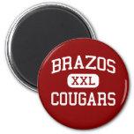 Brazos - Cougars - High School - Wallis Texas Magnet