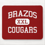 Brazos - Cougars - High School - Wallis Texas Mouse Pads