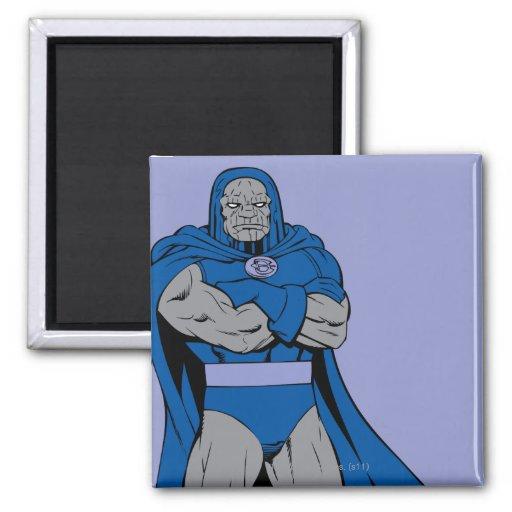 Brazos de Darkseid cruzados Imán Cuadrado